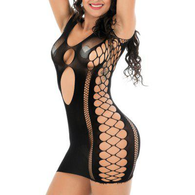 Fesses sexy lingerie sexy dames robe une pièce maille jacquard
