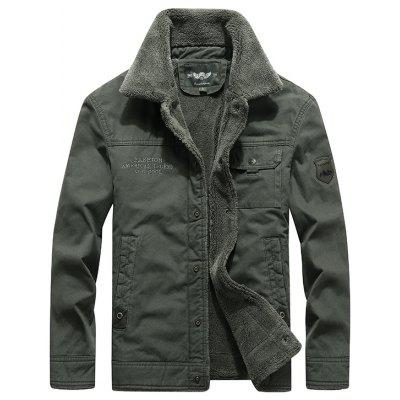 Winter Men'S Cotton Washed Warm Casual Jacket