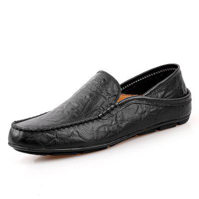 Men'S Leather Flat Shoes British Wind Driving Peas Shoes Large Size