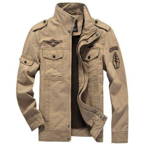 S W Spring and Autumn Men'S Casual Jacket Cotton Jacket Military Top  YSS-8331