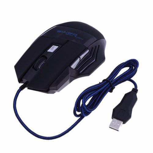 USB Wired 5500DPI 6Buttons Optical Gaming Mouse LED 6 BacklightS for PC Laptop