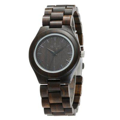 Business Wristwatch Natural Sandal Wood Quartz Couple Watch