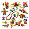400PCS Double Hook Puff Ball Assemble Toy DIY 3D Puzzle For Kids - MULTI-A