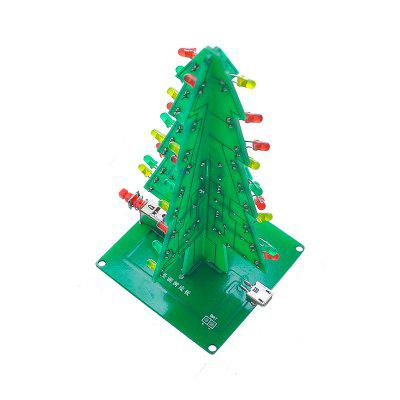 DIY Three-Dimensional Color Christmas Tree LED Running Water Lights Kit