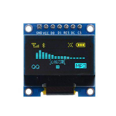 0.96 Inch Yellow and Blue I2c IIC Serial 128X64 Oled LCD LED Module for Arduino