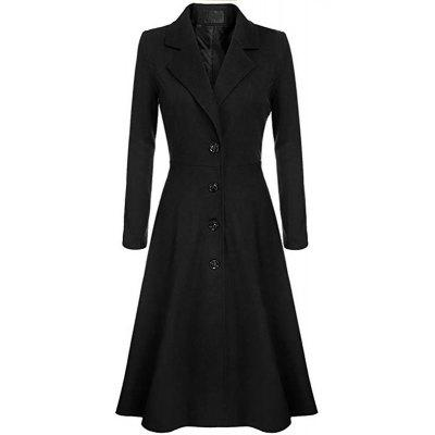 New Woman Fashion Solid Full Sleeve Blazer Collar Long Casual Solid Trench Coat