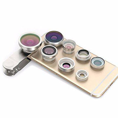 Cell Phone Camera Lens Kit Universal 8 in 1 Clip on Smartphone Lens PRO 0.4X