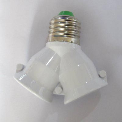 27 To 2E27 Lamp Holder Divided Into Two Lamp Holders