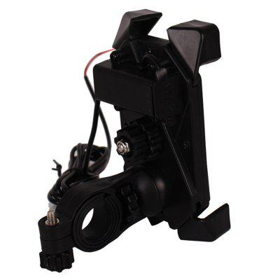 Motorcycle Bike Cell Phone GPS Mount Holder USB Charger