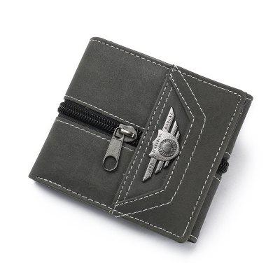 Wallet Men Male With Coin Purse Pockets Slim Fashion Mini Wallet Zipper Clamp