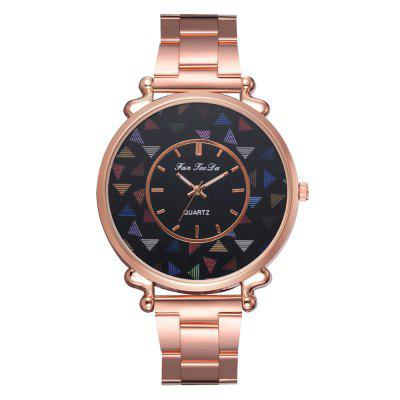 The New Brand Watch Hot Style Fashion Lady Rose Gold Steel Band Watch