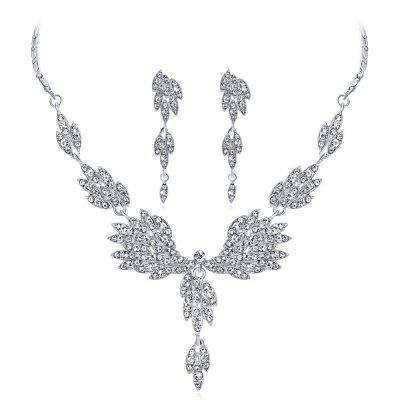 Hot Sale Angel Wings Temperament Diamond Jewelry Wedding Dress
