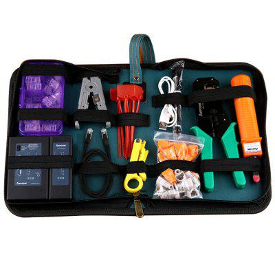 AMPCOM 318 Professional Network Tool Kit Stripper Crimper Pouch Down Tool Tester