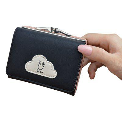 Wallet Female Short Paragraph Cloud Small Wallet New Small Fresh Wallet