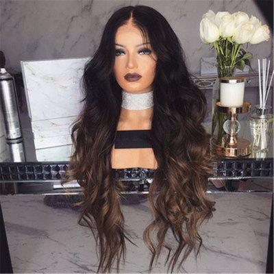 Female Wig with Long Curly Hair and Large Wavy Gradient