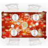 Living Room Decoration Cloth Christmas Snowflake Tea Obrus - CZERWONY