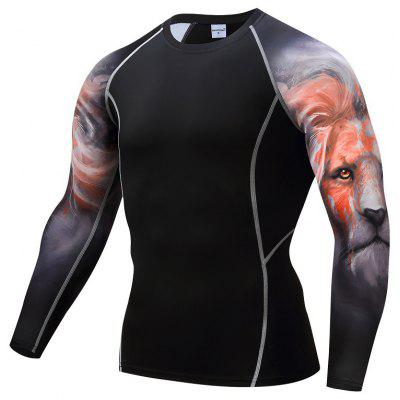 Fast Dry Fitness Suits Men's T-shirt Basketball Running Fitness Suits
