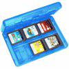 New28-in-1 Game Card Case per Nintendo Switch / NEW 3DS / 3DS / DSi / DSi XL / DS - BLU MARINO