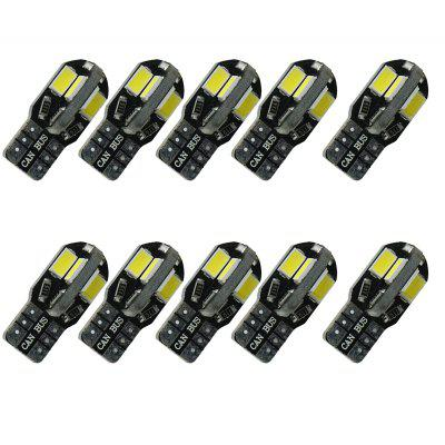 T10 W5W LED Car Light Bulbs 8 LEDS 5630 for Interior Light License Plate DC12V 10PCS