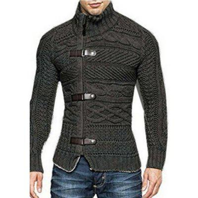 Men'S Stand Collar Fashion Large Size Sweater Jacket