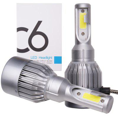 1 Set Super Light C6 LED Headlight Kit H4
