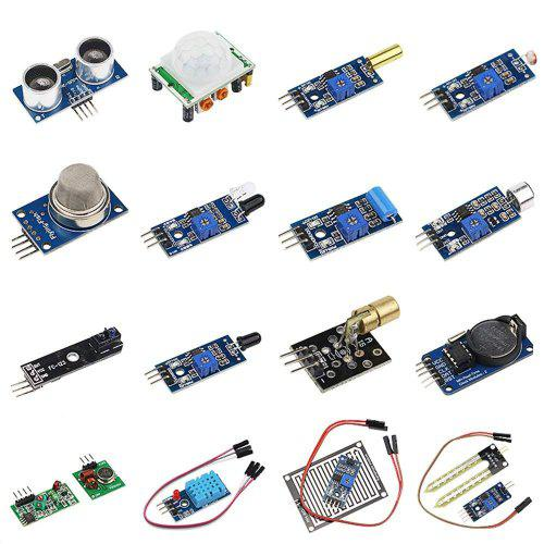 DIY 16 in 1 Sensor Module Kit for Arduino R3 Mega2560 Nano Raspberry Pi