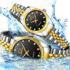 Fashion Leisure Gold Stainless Steel Belt with Diamond British Lovers Watch - MULTI-A
