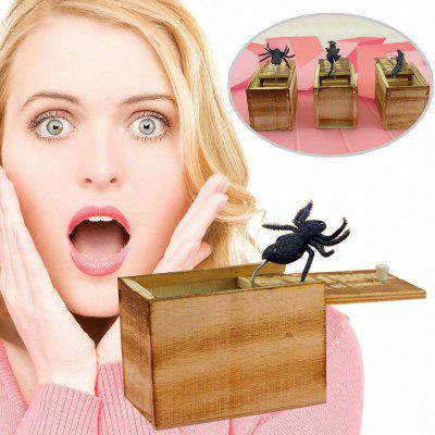 Boîte de surprise en bois Parrokmon Scare Box Blague en bois Scarebox Spider Blague