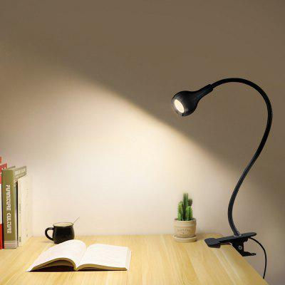 Lampe à LED USB de Lecture d'Etude Flexible 1W de Bureau de Table avec Commutateur de Bouton d'Agrafe