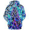 European and American Geometric Digital Printing Hooded Sweatshirt - MULTI-A