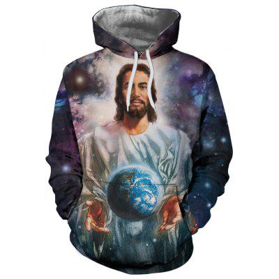 New Star Planet 3D Digital Print Hoodie