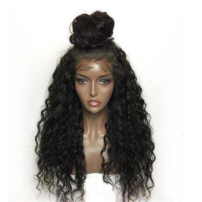 Synthetic Lace Front Wig Kinky Curly Long Length with Baby Hair Natural Looking