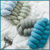 SHL Hand-knitted Knotted Pillow Cushion Holiday Gift Car Sofa Home Decoration - DEEP SKY BLUE