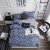 OMONNES A Simple Life of Aloe Cotton Quilt Set for Household Use - JET GRAY