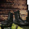 Men Shoes Fashion Soft and Comfortable Lace Up Breathable - BLACK