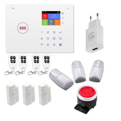 2.4 Inch TFT Screen WIFI GSM Home Burglar Security Alarm System Motion Detector