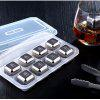 Stainless Steel Ice Cubes Set Ice Wine Stone Metal Ice Wine Whiskey Ice Cubes - SILVER