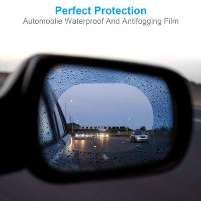 2PCS Waterproof Anti Fog Screen Film for Rearview Mirror of SUV