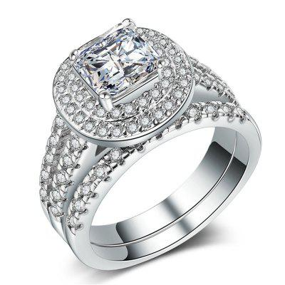 Charhoden Zirconium 925 Silver Gorgeous Fashion Couple Pair of Rings
