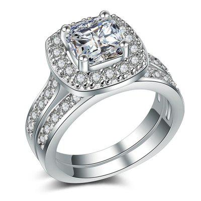 Charhoden Women'S Plated 925 Silver Cubic Zirconia Cut Ring
