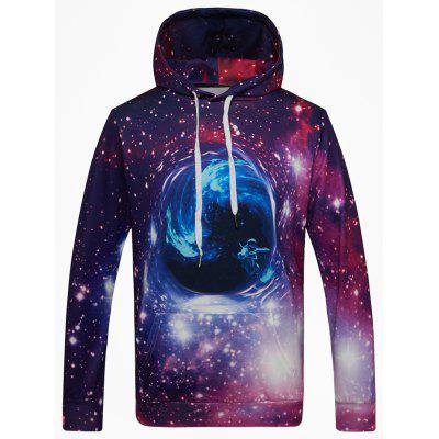 Fashion Pullover Purple Star Black Hole Digital Print Hoodie Sweatshirt