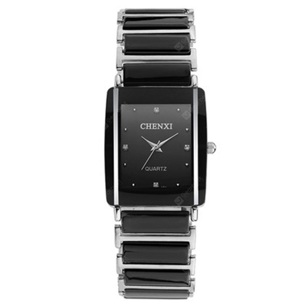 Chenxi Fashion Personality Square Quartz Lovers Ceramic Wristwatch