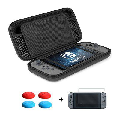Storage Bag + Screen Tempered Glass Film + Thumb Stick Caps for Nintendo Switch
