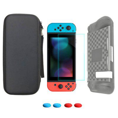 Storage Bag Tempered Glass Screen Protector + Silicone Case for Nintendo Switch