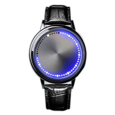 Light-Emitting Fashion Watch with LED Touch Screen