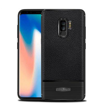 For Samsung Galaxy S9 Plus Silicone Anti-Skin Leather Case