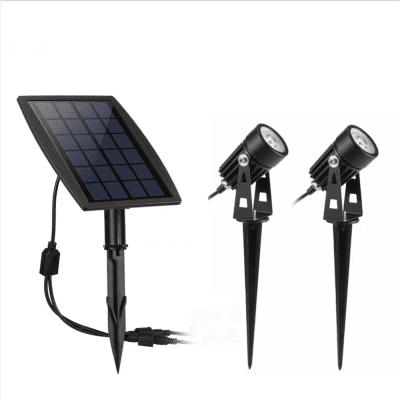 Solar light one drag two projection lamp outdoor courtyard garden lamp lawn lamp