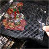 Barbecue Bag New Hot Non-Stick Mesh Grilling Bag Non-Stick BBQ Bake Bag Barbecue - JET BLACK