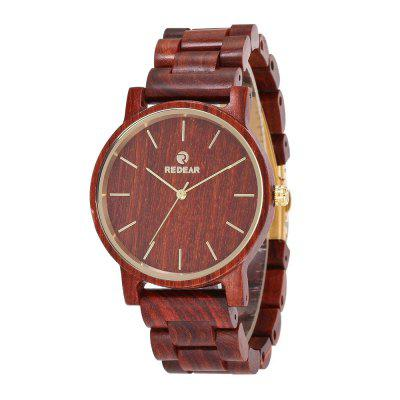 Vintage Simple Design Wristwatch Wooden Quartz Watch