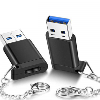 2 PCS USB 3.0 Tipo C Fêmea para USB Masculino Data Charging Extension Adapter